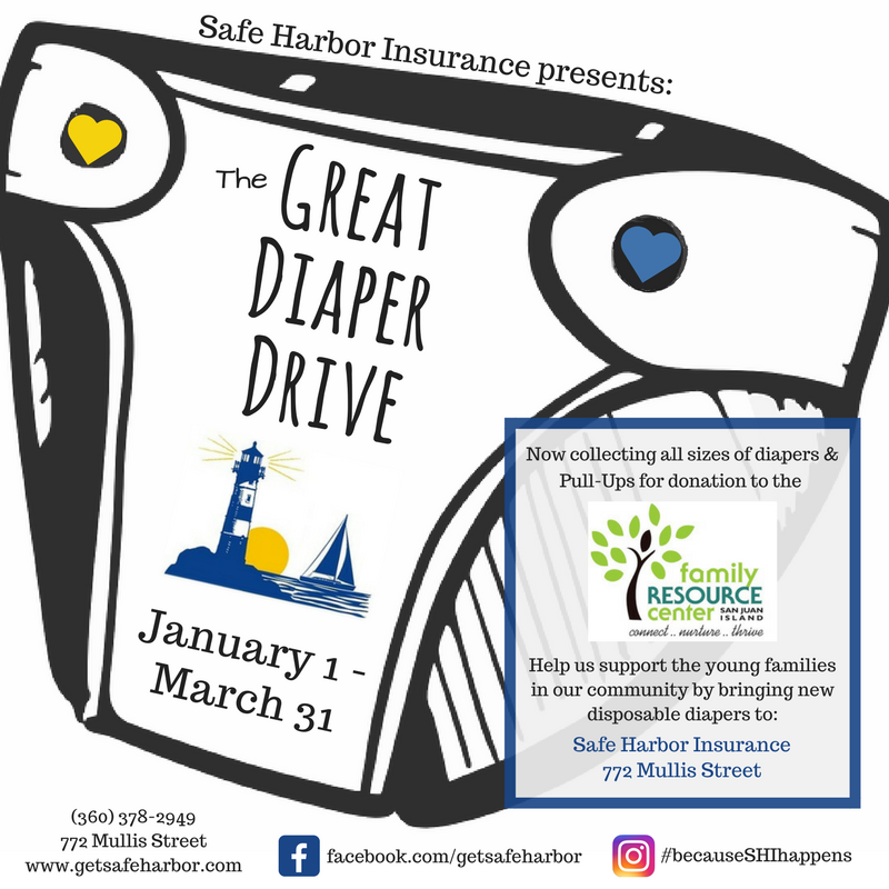 The Great Diaper Drive – Friday Harbor WA | Safe Harbor